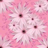 Безшовная бесконечная предпосылка флористическая Бело-фиолетовые цветки для дизайна и печатания Предпосылка естественных цветков Стоковая Фотография RF