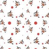 Безшовная белая предпосылка с оленями бесплатная иллюстрация