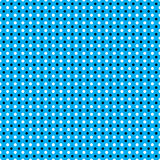 Безшовная белая черная картина точек польки на неоновой голубой предпосылке Бесплатная Иллюстрация