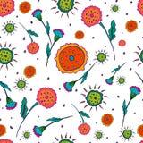 Безшовная белизна цветка картины стоковое изображение