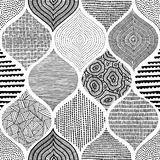 Безшовная богемская печать Орнамент в стиле заплатки handmade иллюстрация штока
