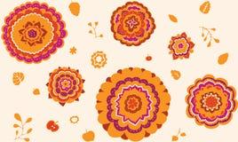 Безшовная ботаническая картина Стоковое Изображение RF