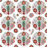 Безшовная ваза цветка картины стоковое изображение rf