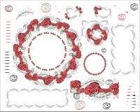 Безшовная версия растра щетки Розы большое и небольшое похожее стоковое изображение rf