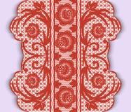 Безшовная вертикальная лента шнурка с цветками Стоковое Изображение RF
