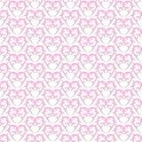 Безшовная викторианская розовая предпосылка сердец Стоковые Изображения