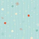 Безшовная винтажная картина зимы Стоковые Изображения RF