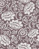 Безшовная винтажная картина флористического дизайна штофа бесплатная иллюстрация