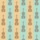 Безшовная винтажная предпосылка с скрипками Стоковые Фото