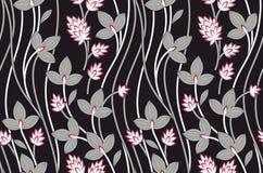 Безшовная винтажная уникальная картина цветка иллюстрация вектора