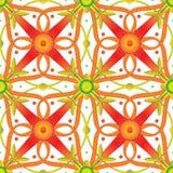 Безшовная винтажная флористическая картина вектора предпосылка ретро Стоковая Фотография RF