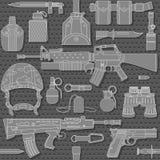 Безшовная воинская картина 03 Стоковые Фотографии RF