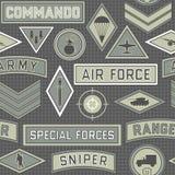 Безшовная воинская картина 09 Стоковая Фотография RF