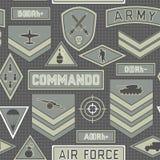 Безшовная воинская картина 10 Стоковая Фотография RF