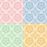 Безшовная востоковедная картина флоры иллюстрация штока