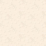 Безшовная выбитая предпосылка с цветками. Вектор  Стоковое Изображение RF