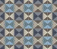 Безшовная геометрическая винтажная картина иллюстрация штока