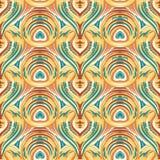 Безшовная геометрическая линия картина Стоковые Фотографии RF