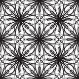 Безшовная геометрическая иллюстрация вектора орнамента Стоковое фото RF