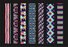 Безшовная геометрическая картина в ацтекском стиле Племенная этническая текстура вектора afoul иллюстрация штока