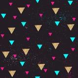 Безшовная геометрическая картина в ретро стиле 80s Стоковые Фото