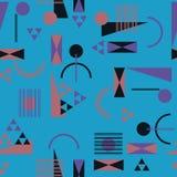 Безшовная геометрическая картина в ретро стиле 80s Бесплатная Иллюстрация