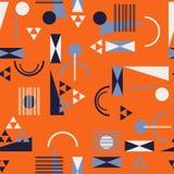 Безшовная геометрическая картина в ретро стиле 80s Иллюстрация штока