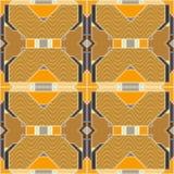 Безшовная геометрическая картина в стиле заплатки Стоковое Фото