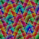 Безшовная геометрическая картина в стиле искусства пиксела Африканский мотив, boho Стоковая Фотография RF