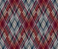 Безшовная геометрическая картина в стиле boho Африканский мотив, абстрактный Стоковое Изображение RF