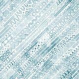 Безшовная геометрическая картина в стиле grunge Раскосное orienta Стоковые Фотографии RF