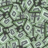 Безшовная геометрическая картина в темных ых-зелен тонах хаки Для тканья способа, ткань, предпосылки Безшовная картина, предпосыл Стоковое фото RF
