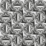 Безшовная геометрическая картина в monochrome цветах Стоковое Изображение RF