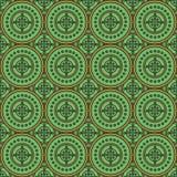 Безшовная геометрическая картина зеленых больших и малых кругов бесплатная иллюстрация
