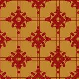 Безшовная геометрическая картина красных диамантов на желтой предпосылке иллюстрация вектора