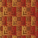 Безшовная геометрическая картина красных и желтых квадратов с градиентом иллюстрация вектора