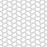 Безшовная геометрическая картина, много яичек славно аранжировала на белой предпосылке, stripes абстрактный шаблон, иллюстрация в иллюстрация штока