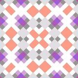 Безшовная геометрическая картина мозаики квадратов Стоковая Фотография RF