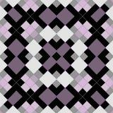 Безшовная геометрическая картина мозаики квадратов Стоковые Фото
