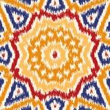 Безшовная геометрическая картина, стиль ткани ikat Стоковая Фотография