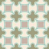 Безшовная геометрическая картина с косоугольником и цветками Стоковая Фотография RF