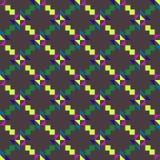 Безшовная геометрическая картина с покрашенными треугольниками и квадратами на серой предпосылке иллюстрация штока