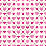 Безшовная геометрическая картина с сердцами вектор Стоковое Изображение