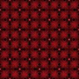 Безшовная геометрическая картина с стилизованными сердцами Стоковые Изображения