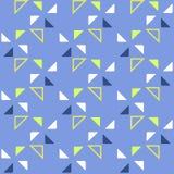 Безшовная геометрическая картина с треугольниками на голубой предпосылке Стоковая Фотография RF