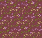 Безшовная геометрическая картина с флористической предпосылкой Стоковые Фотографии RF