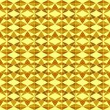 Безшовная геометрическая картина форм треугольника желтого золота, много размеров, на светлом - желтая предпосылка Плоское illust иллюстрация штока