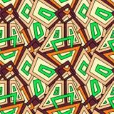 Безшовная геометрическая картина для ткани моды, ткани, предпосылок Безшовная картина, предпосылка, текстура предпосылка объезжае Стоковое Фото