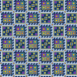 Безшовная геометрическая картина Стоковое Изображение