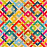 Безшовная геометрическая квадратная картина Стоковое Изображение